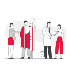 Illness health care concept patients man and vector