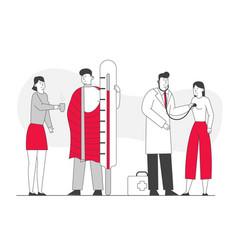 illness health care concept patients man vector image