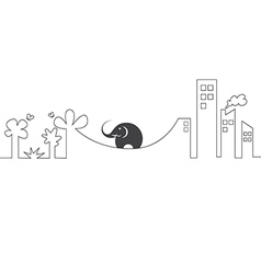 Images of elephants on a rope vector