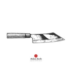 Japanese kitchen knife vector