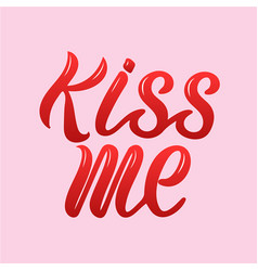kiss me for logotype flyer vector image