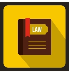 Law book icon in flat style vector image
