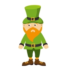 Leprechhaun irish hat beard green costume vector