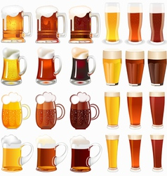 light and dark beer vector image