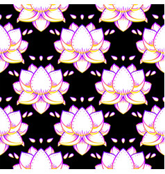 lotus flower sacred geometry symbol with all vector image