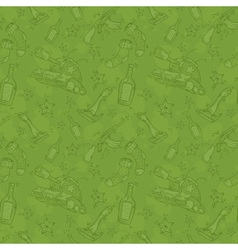 Military seamless pattern vector image