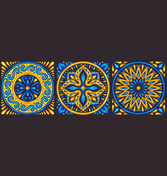 Moroccan ceramic tile pattern vector
