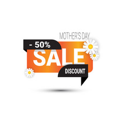 mothers day discount sign shopping sale poster vector image