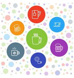 mug icons vector image