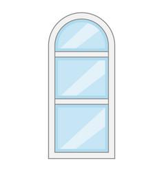 narrow window frame icon cartoon style vector image