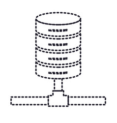 Network server storage icon in monochrome vector