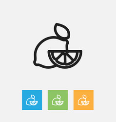 Of cooking symbol on lime vector