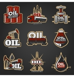 Oil Industry Colorful Logos vector