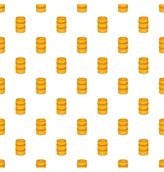 Orange barrel pattern cartoon style vector