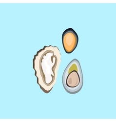 Oysters Variations vector