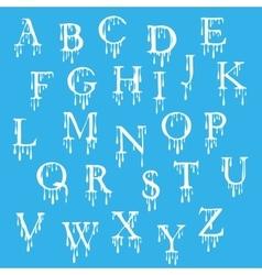 Paint alphabet Letters Halloween cartoon style vector image