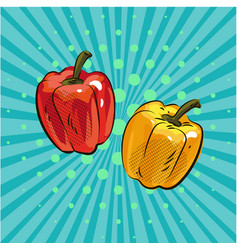 pepper paprika pop art comic style hand drawn vector image