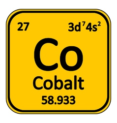 Periodic table element cobalt icon vector image