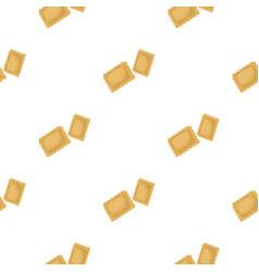 ravioli pasta icon in cartoon style isolated on vector image