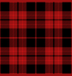 Red and black tartan plaid seamless pattern vector