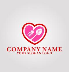 restaurant leaf logo 3 vector image