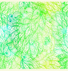 Seamless floral grunge yellow and green pattern vector