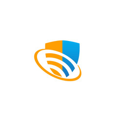 shield protect technology safe logo vector image