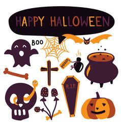 Simple style hand drawn halloween pumpkin vector