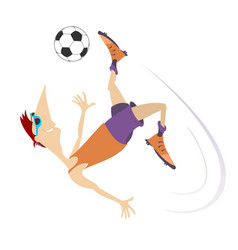Smiling young man playing football isolated vector