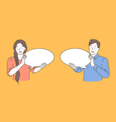 speech bubble advertising communication concept vector image