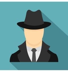 Spy icon flat style vector image