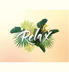 summer tropical design for poster banner vector image