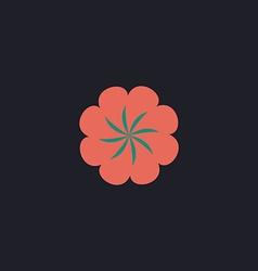 Swirl flower computer symbol vector image