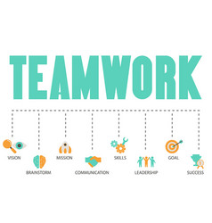 Teamwork concept with business icons teamwork vector