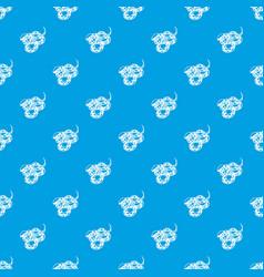 texas snake pattern seamless blue vector image