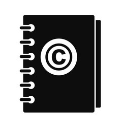 trademark notebook icon simple style vector image