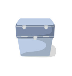 travel cooler box isolated icon vector image