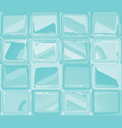 Turquoise pattern with abstract squares vector