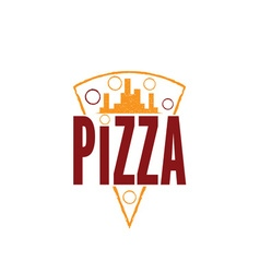 urban pizza slice design template vector image