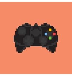 Vintage gamepad Pixel art style joystick vector image
