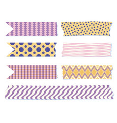 Washi tapes different lengths japanese vector