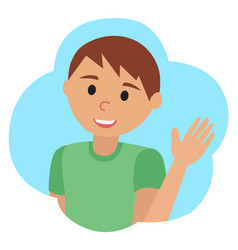drawing of icon man in the cloud waving vector image vector image