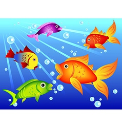 Fun colorful fish vector image