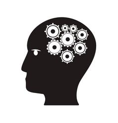 human head gear idea teamwork concept vector image vector image