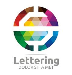 lettering s rainbow alphabet icon vector image vector image