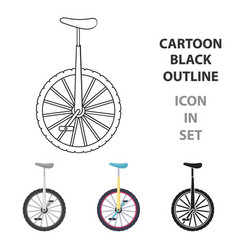 monocycle icon in cartoon style isolated on white vector image vector image