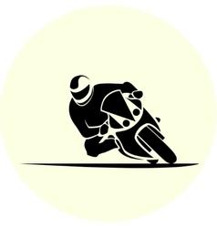 Motorcycle racer sport vector image