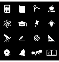 white education icon set vector image
