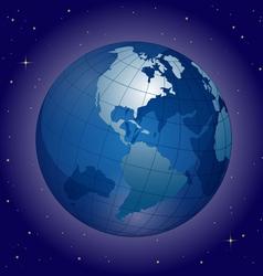 blue globe vector image vector image