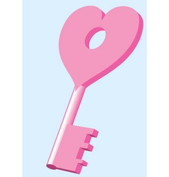 key from heart vector image
